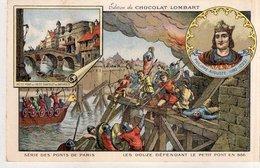 """CHROMOS  """"Edition Du CHOCOLAT LOMBART  """"Le Petit Pont"""" - Lombart"""