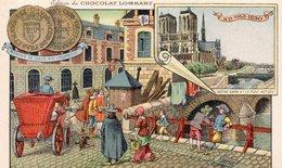 """CHROMOS  """"Edition Du CHOCOLAT LOMBART  """"Le Pont Au Double En 1640 - Lombart"""