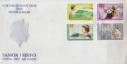FDC. HM THE QUEEN'S VISIT AND SILVE JUBILEE. SAMOA I SISIFO 1977.-BLEUP - Samoa