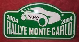"Plaque De Rallye ""MONTE CARLO"" 2004 Verte - Plaques De Rallye"