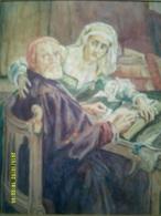 AQUARELLE PEINTURE PEINTRE SCENE TABLEAU RELIGION - Watercolours