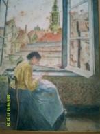 AQUARELLE PEINTURE PEINTRE SCENE TABLEAU COUTURE METIER COUTURIERE - Watercolours