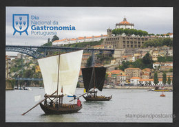 Portugal Entier Postal 2018 Bateau Transport Vin Du Porto Pont Stationery Port Wine Transportation Boat Oporto Bridge - Postal Stationery