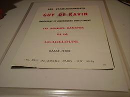 ANCIENNE PUBLICITE LA BANANE DE LA MARTINIQUE GUY DE RAVIN  1960 - Posters