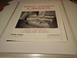 ANCIENNE PUBLICITE LA BANANE DE LA GUADELOUPE BASSE TERRE   1960 - Posters