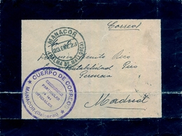 1923 , PALMA DE MALLORCA / MANACOR , SOBRE CIRCULADO A MADRID , FRANQUICIA CUERPO DE CORREOS / CORRESP. OFICIALES - 1889-1931 Regno: Alfonso XIII