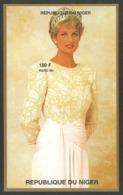 NIGER 1997 PRINCESS DIANA ROYALTY ANNIVERSARY IMPERF M/SHEET MNH - Niger (1960-...)