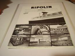 ANCIENNE PUBLICITE PEINTURE RIPOLIN ET LE PAQUEBOT FRANCE 1960 - Publicités