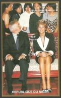 NIGER 1997 PRINCESS DIANA ROYALTY ANNIVERSARY IMPERF HONG KONG M/SHEET MNH - Niger (1960-...)
