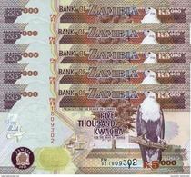 ZAMBIA 5000 KWACHA 2011 P-45g UNC 5 PCS [ZM147g] - Zambia