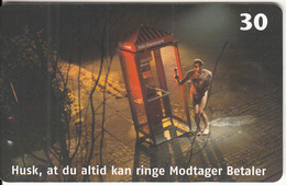DENMARK(chip) - Tele Danmark Phone Booth, Remember That You Can Always Call Recipient Pays, 07/01, Used - Denmark