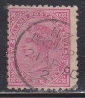 NEW ZEALAND Scott # 61b Used - Queen Victoria - 1855-1907 Crown Colony