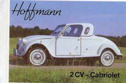 Citroen Hoffmann 2CV Cabriolet Avec Hardtop    -  CPM - Voitures De Tourisme