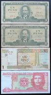 Cuba - 1 3 Pesos 1980 - 1961- 2006 - 2004 Lot 4 Billets - Cuba
