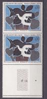 N° 1319 Tableaux De Peintres Modernes: 1 Paire 2 Timbres : Le Messager De Braque - Neufs
