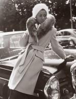 USA Mode Feminine Annees 70 JC Penney Col Opossum Manteau De Flanelle Ancienne Photo - Other