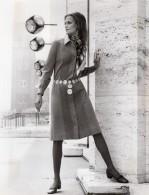 USA Mode Feminine Annees 60 Robe Adele Martin Chemisier En Laine Ancienne Photo - Photographs