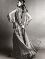 USA Mode Feminine Annees 60 Sarmi Robe De Bal Chiffon Perles De Culture Ancienne Photo - Other