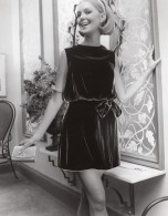 USA Mode Feminine Annees 60 Norman Sacks Blouson Robe Velours Ancienne Photo - Other