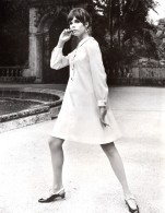 USA Mode Feminine Annees 60 Cohama Fabrics Tissu Serge Dacron Robe Trapeze Ancienne Photo - Other