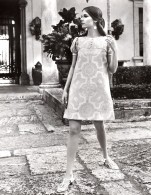 USA Mode Feminine Annees 60 Avila Greenwood Mills Robe Trapeze Ancienne Photo - Other