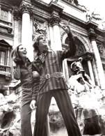 Rome Fontana Di Trevi Mode Feminine Masculine Annees 70 J.P. Stevens Textile Ancienne Photo - Other