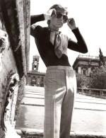 Rome Capitole Mode Masculine Annees 70 J.P. Stevens Louis Estevez Jaymar-Ruby Ancienne Photo - Photographs