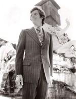 Rome Capitole Mode Masculine Annees 70 J.P. Stevens Textile Ancienne Photo - Other