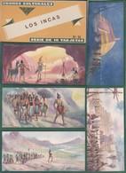 LOS INCAS - CROMOS CULTURALES DE EDICIONES BARSAL. COMPLETA 10 CROMOS EN SU ESTUCHE ORIGINAL - Cromos