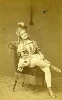 France Paris Actrice Delapennes ? Theatre Mode Ancienne Photo CDV Vaury 1870 - Photographs