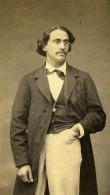 France Paris Docteur Medecine? Homme Dedicace Ancienne Photo CDV Pierre Petit 1870 - Photographs