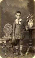 France Bordeaux Garcon Mode Costume Chapeau Ancienne Photo CDV Maison Dorée 1900 - Photographs