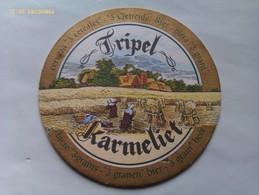 Posavasos Cerveza Tripel Karmeliet. Bélgica. Años '90 - Portavasos
