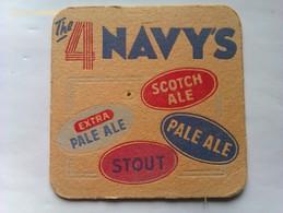 Posavasos Cerveza The 4 Navy's Scotch Ale. Escocia. Reino Unido. Años '70 - Portavasos