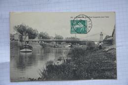 LIBOURNE-le Pont Suspendu (sur L'isle)-peniche - Libourne