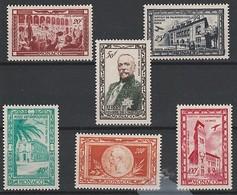 MONACO 1949 - Centenaire De La Naissance Du Prince Albert 1er - Yv PA36/41 **/* - Poste Aérienne