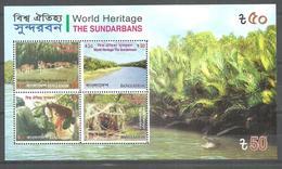 BANGLADESH  SOUVENIR SHEET WORLD HERITAGE THE SUNDARBANS PERF  SOUVENIR MNH - Bangladesch