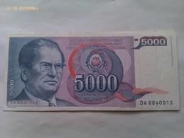 Billete Yugoslavia. 5.000 Dinares. 1985. Tito - Yugoslavia