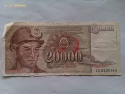 Billete Yugoslavia. 20.000 Dinares. 1987 - Yougoslavie