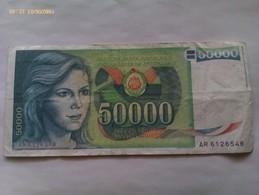Billete Yugoslavia. 50.000 Dinares. 1988 - Yugoslavia