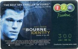 Mobilecard Thailand - 12Call - Movie,Film,cinema  - Bourne  Identity (2) - Cinema