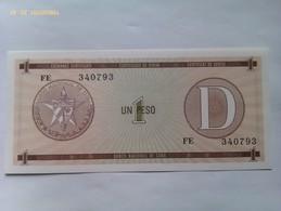 Billete Cuba. 1 Peso. Serie D. 1985. Certificado De Divisa. Banco Nacional De Cuba. Sin Circular - Cuba