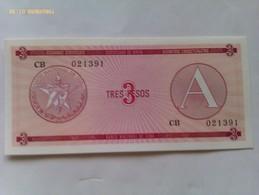 Billete Cuba. 3 Pesos. Serie A. 1985. Certificado De Divisa. Banco Nacional De Cuba. Sin Circular - Cuba