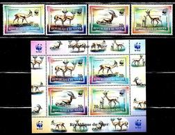 "Niger   ""Gazella Dorcas-WWF""     Set & Se-Tenant Block Of 4    SC# 983-86a   MNH  SCV$ 13.60 - Niger (1960-...)"