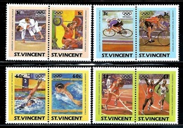 """St. Vincent   """"Olympic Games 1984""""   Set  ( 4 Pair)    SC# 765-68   MNH - St.Vincent (1979-...)"""