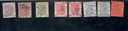 HongKong1863-1901:Lot Of 8 Used Mi.15,17(perfs On Left Side Missing)35,36,44,56,58 - Hong Kong (...-1997)