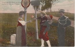 54 - MOYENVIC/LUNEVILLE - POTEAU FRONTIERE - DOUANIERS ET ZOUAVE - Douane