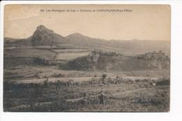 Carte Des Montagnes Du Laz  Environs De Châteauneuf Du Faou ( Mauvais état Dommage Car Peu Courante ) - Châteauneuf-du-Faou
