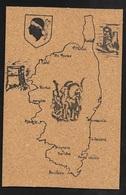Carte Postale En Liège Fabrication Française édition Hachette Carte De La Corse Illustrée Mouflon écrite TB  Soldée ! ! - France