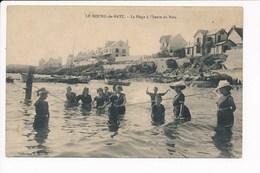 Carte De Bourg De Batz  Plage à L' Heure Du Bain La Corde ( Recto Verso ) - Batz-sur-Mer (Bourg De B.)